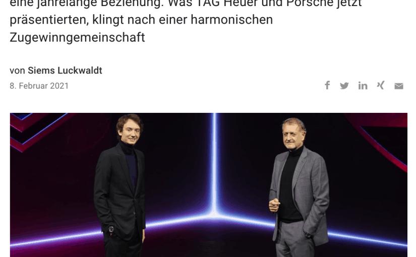 TAG Heuer und Porsche geben gemeinsam Gas (für Capital.de)