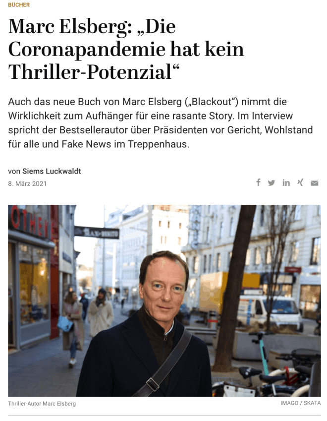 Interview: Thriller-Autor Marc Elsberg (für Capital.de)