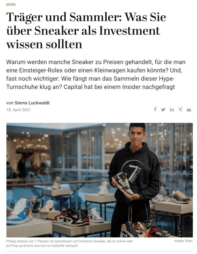 Interview: Philipp Kassel, 7 Perplex (für Capital)