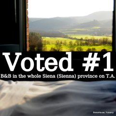 #1 B&B in THE WHOLE Province of Siena !!!!