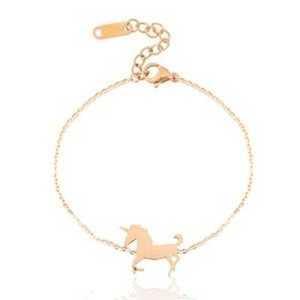 Roestvrij stalen (RVS) armband unicorn