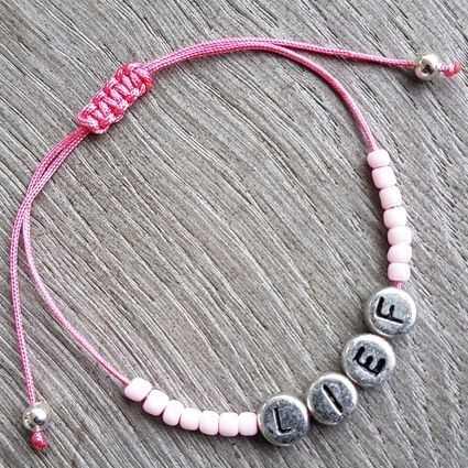 Stel zelf samen Ibiza armband roze