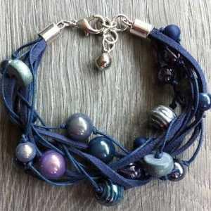 Armband Riley blauw paars