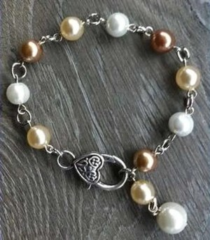 Armband Peggy donker champagne