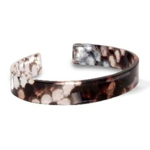 Trendy armband resin loose fit snake shiny Brown-grey (11mm)