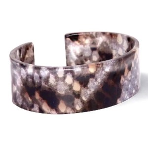 Trendy armband resin loose fit snake shiny Brown-grey (22mm)
