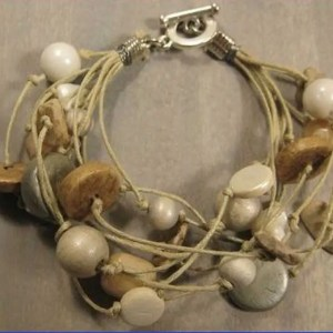 Armband Gabrielle Beige