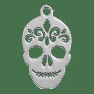 Roestvrij stalen (RVS) Stainless steel ketting met skull hanger