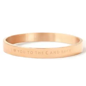 """RVS armband """"I LOVE YOU TO THE MOON AND BACK"""""""
