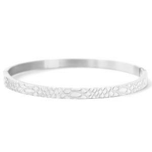Roestvrij stalen (RVS) Stainless steel armbanden snake (4mm) zilver