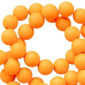 Acryl kralen mat Oranje tangerine
