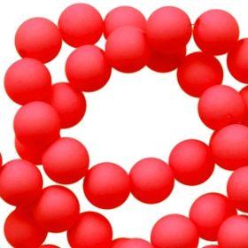 Acryl kralen mat True Red