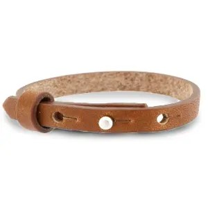 Verstelbare heren armband 8mm Saddle brown