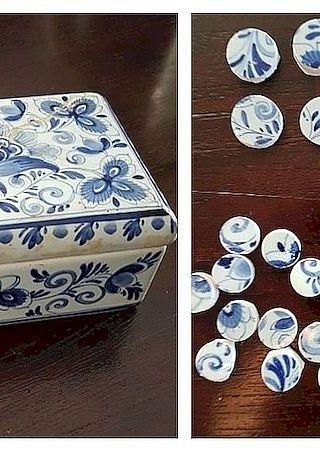 Delfts blauw doos gezaagd