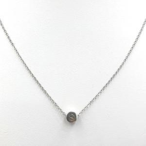 Roestvrij stalen (RVS) Stainless steel zilveren ketting met initiaal kraal