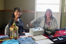 Lori and Valerie run the sponsorship table