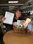 Gift Basket Raffle and our sponsor Angela Mia