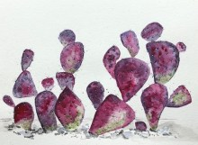Watercolor Cactis_1 tonja wilcox succulent and cacti learnery