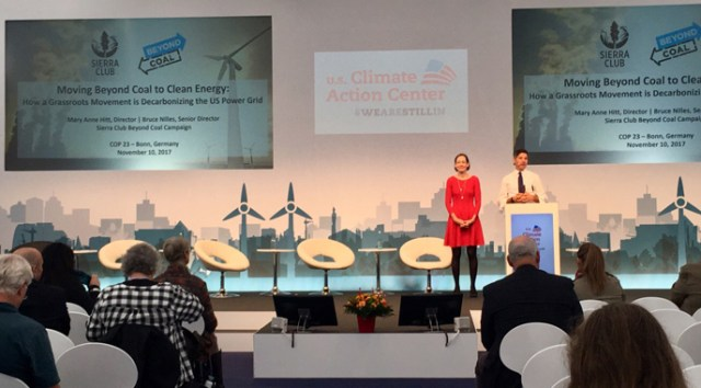 Mary Anne Hitt and Bruce Nilles at U.S. Climate Action Center