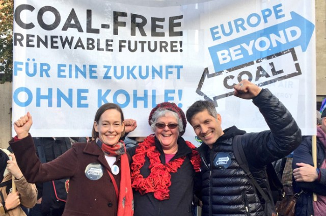 Mary Anne Hitt, Verena Owen, and Bruce Nilles at COP23
