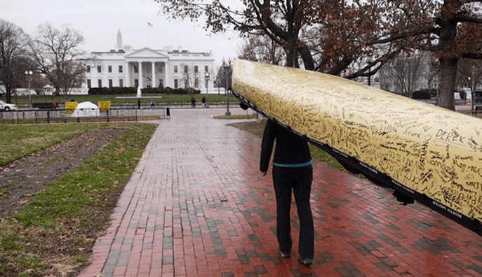 Paddle to DC arrives at the White House