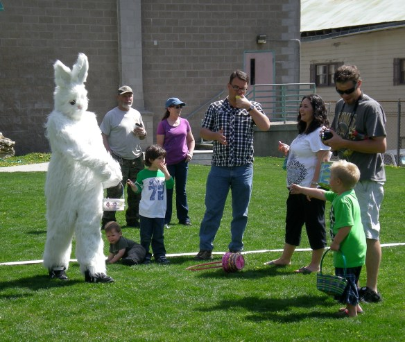 Kids excited about Bunny