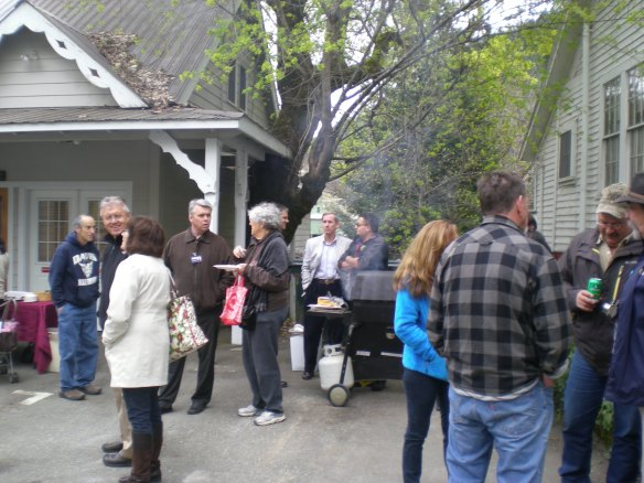 The WSMC  BBQ welcoming the Cantrells to Downieville was well attended.