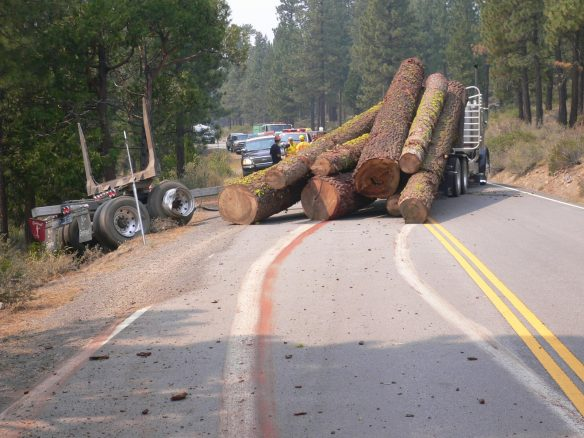 Logging truck on Hwy 89 south of Sierraville