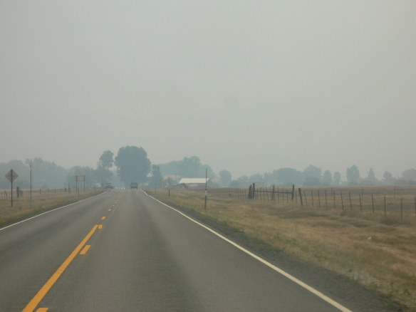 Sierra Valley covered in smoke