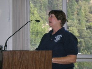 Jacie Epperson addresses the Board of Supes over parking problems