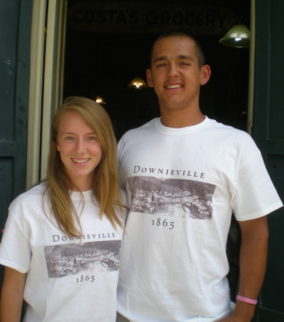 These young people were at the Downieville Museum enjoying the local lore.