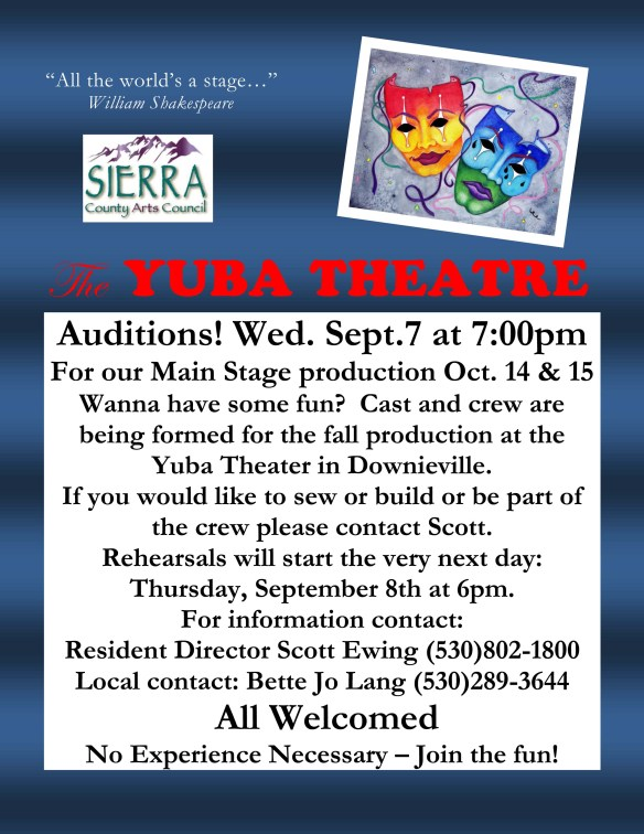 Auditions! color poster