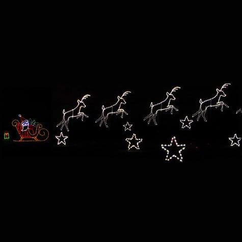 Santa and sleigh lights