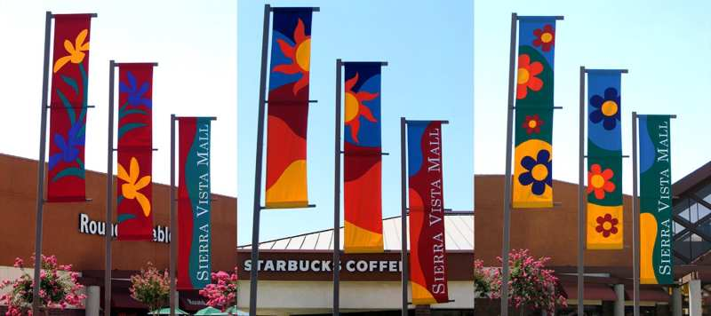 Banners at mall