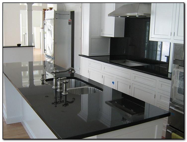Kitchen With Black Countertops For Elegant Design Home