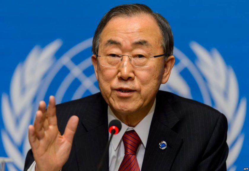 Ya lo dijo el Secretario General de la ONU, Banki-Moon: