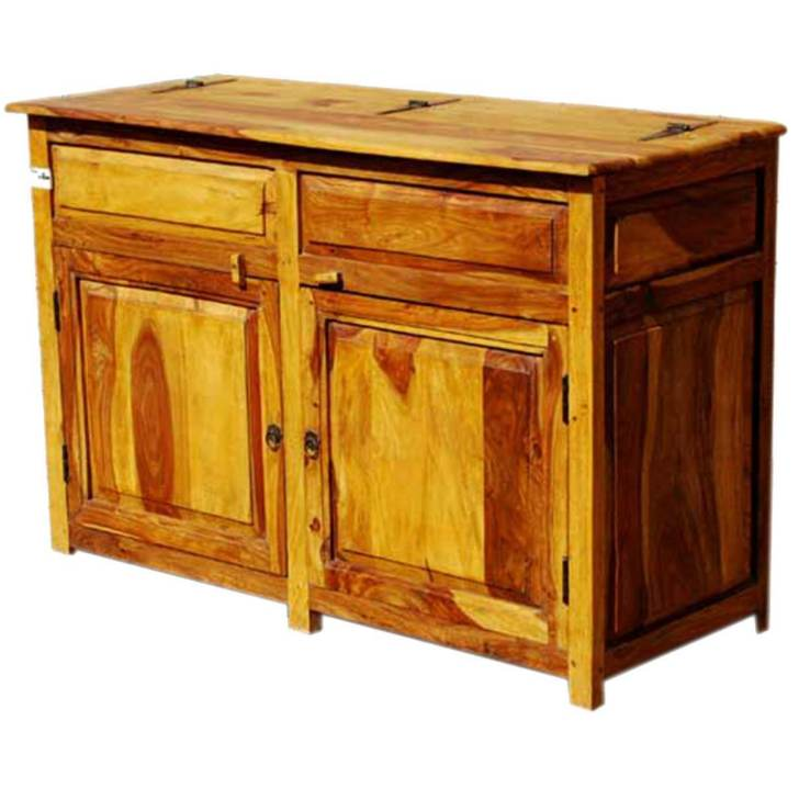 Dallas Ranch Solid Wood Door Rustic Kitchen Storage Buffet Cabinet