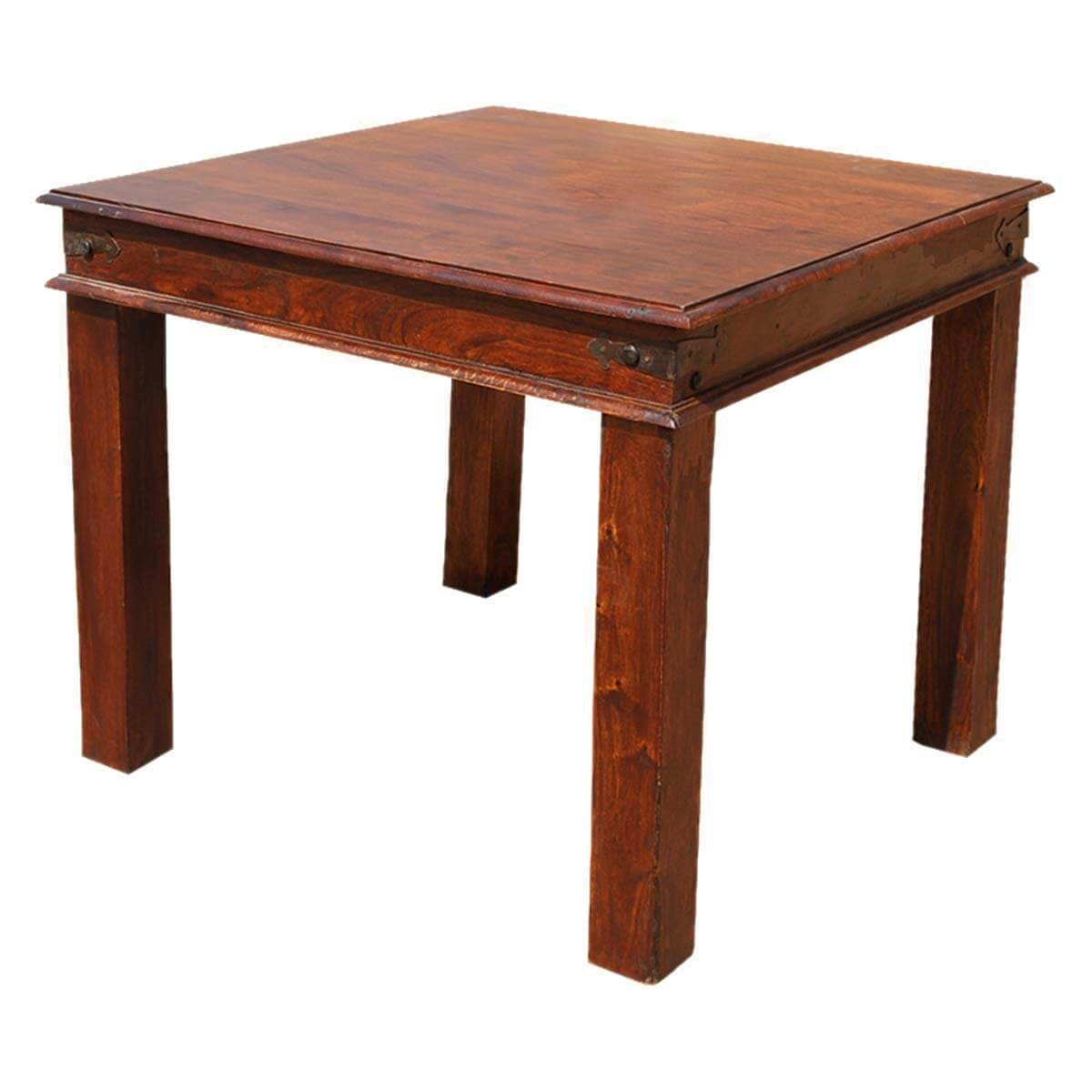 grogan rustic solid wood square dining table on solid wood dining table id=54097