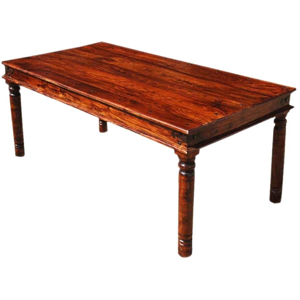 grogan rustic solid wood rectangular dining table on solid wood dining table id=41556