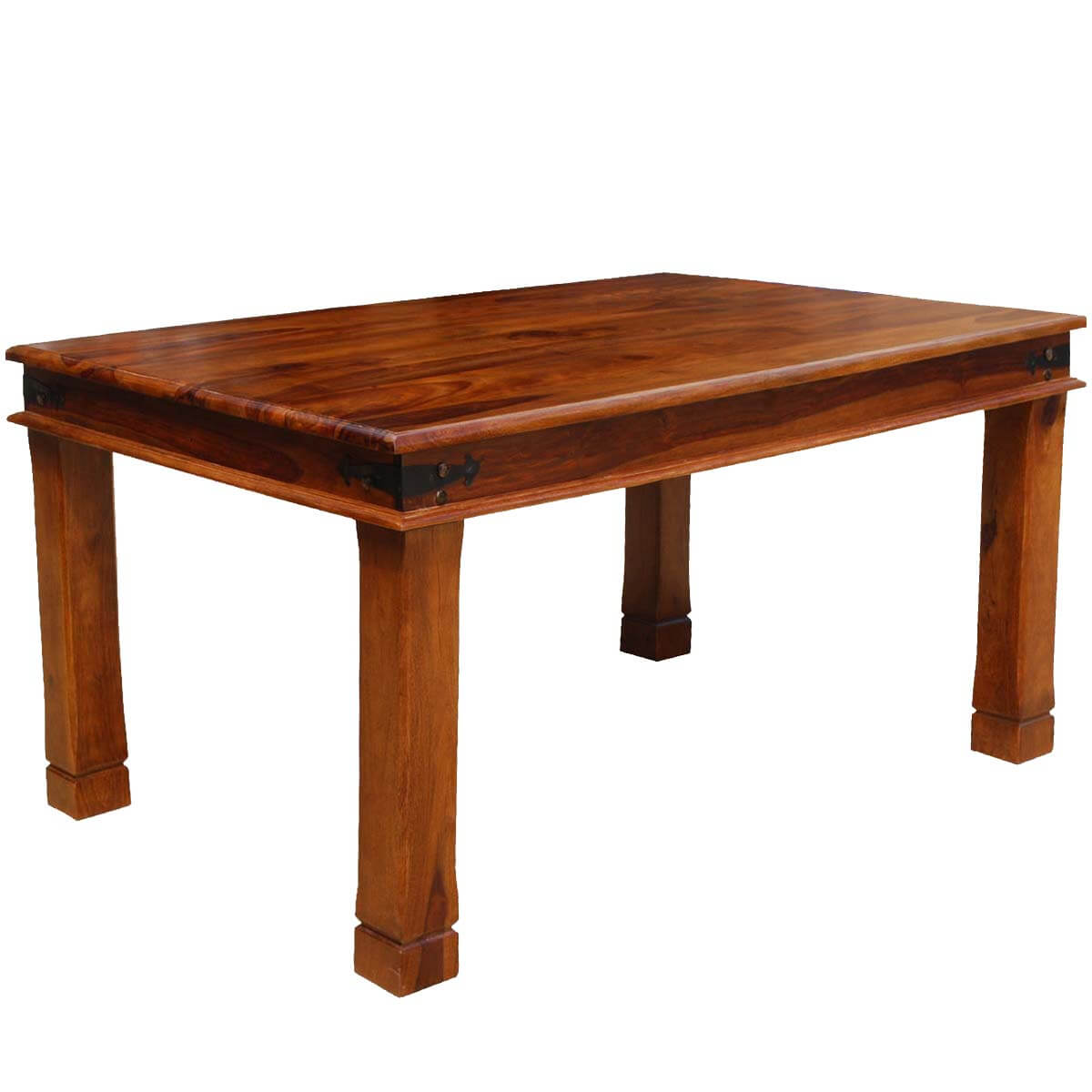 fannin transitional solid wood double edge dining table on solid wood dining table id=48817