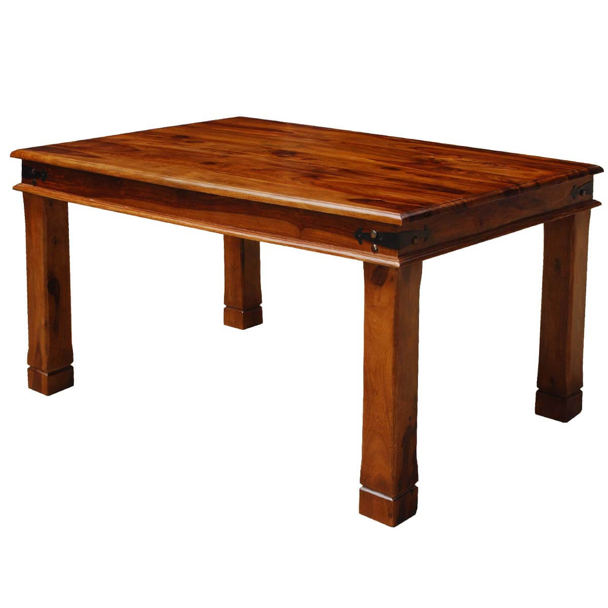 fannin transitional solid wood double edge dining table on solid wood dining table id=79088