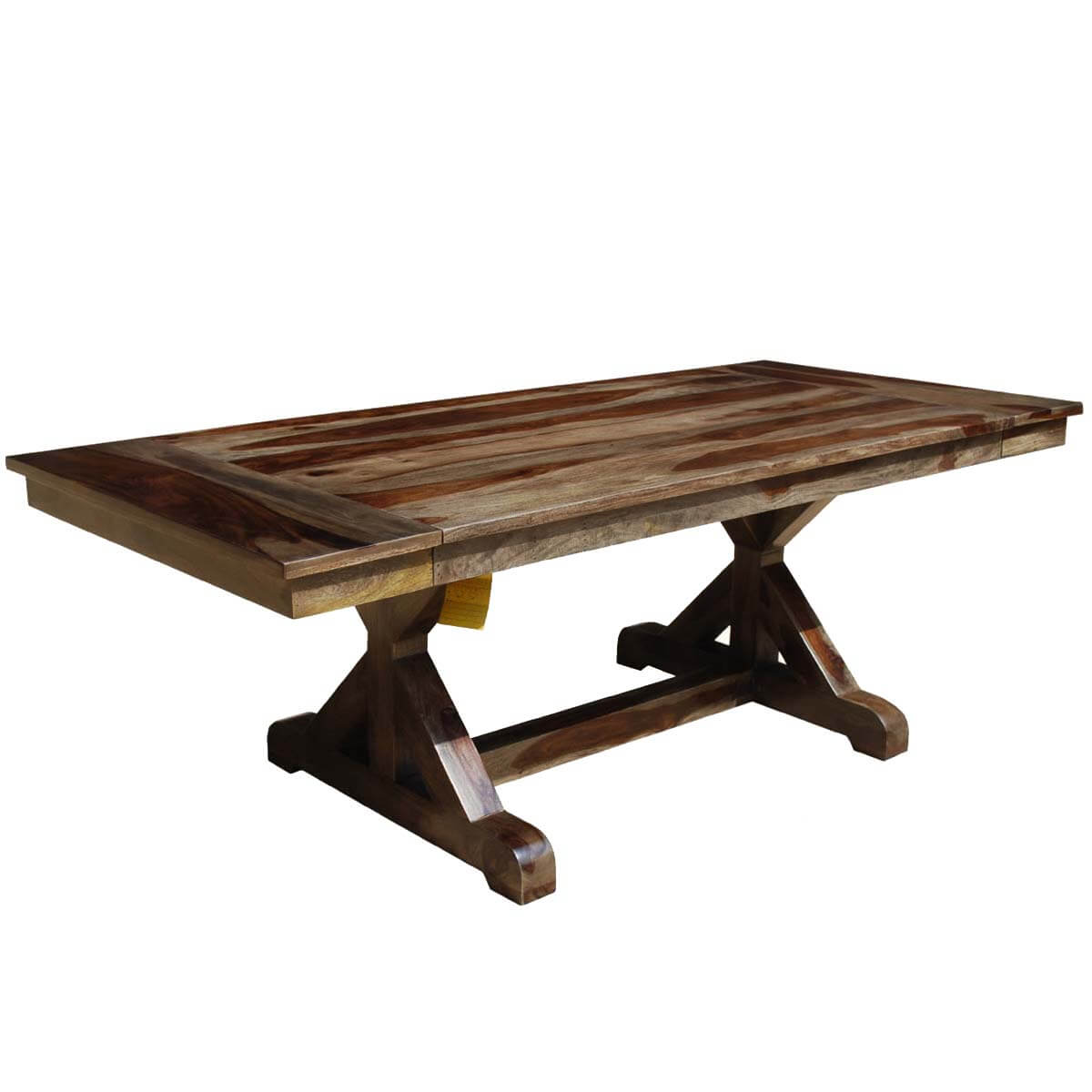 antwerp x base solid wood rustic extendable farmhouse on solid wood dining table id=15755