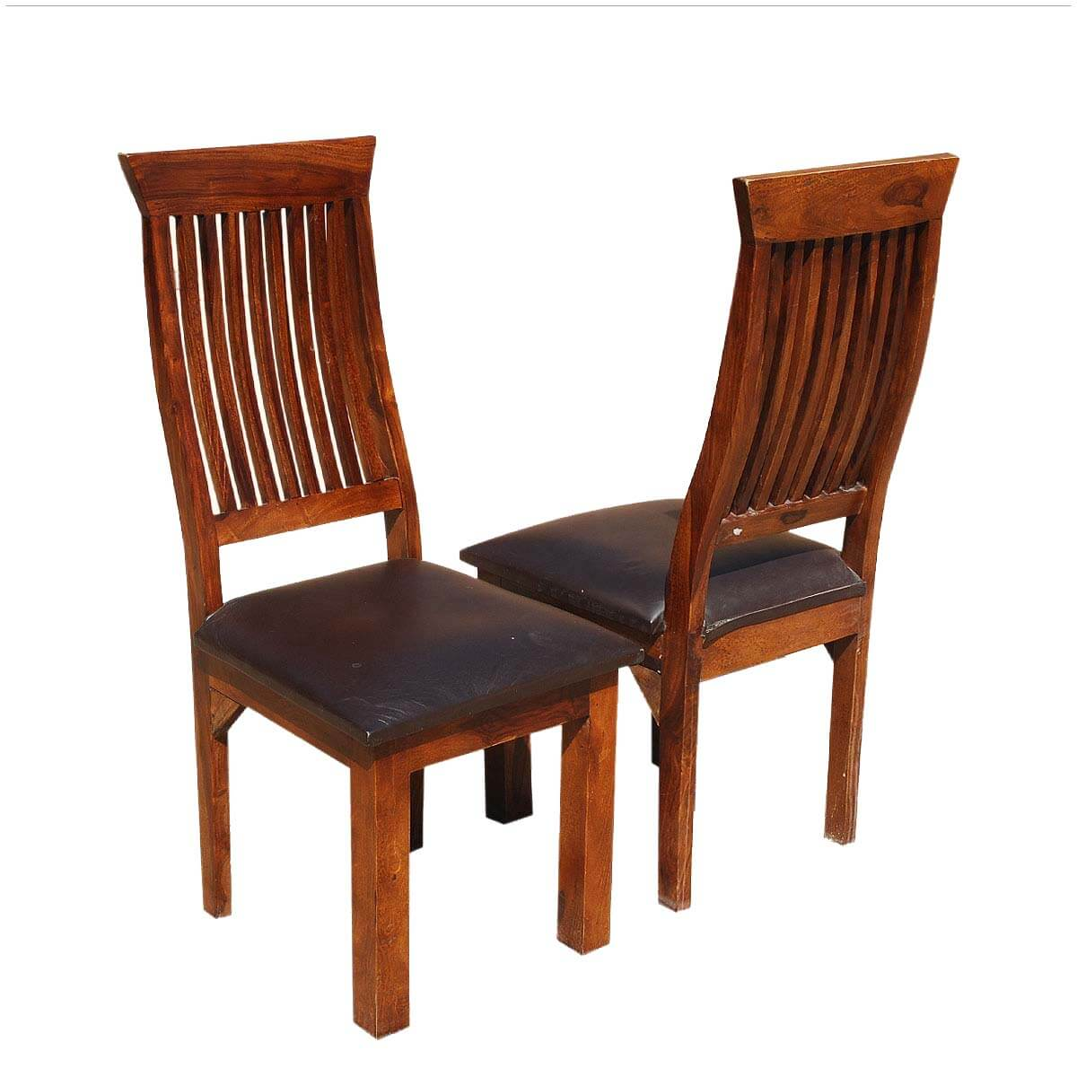 Use the landon dining chair for a sleek modern farmhouse charm in your kitchen or dining room. Ergonomic Solid Wood & Leather Dining Chair Set of 2