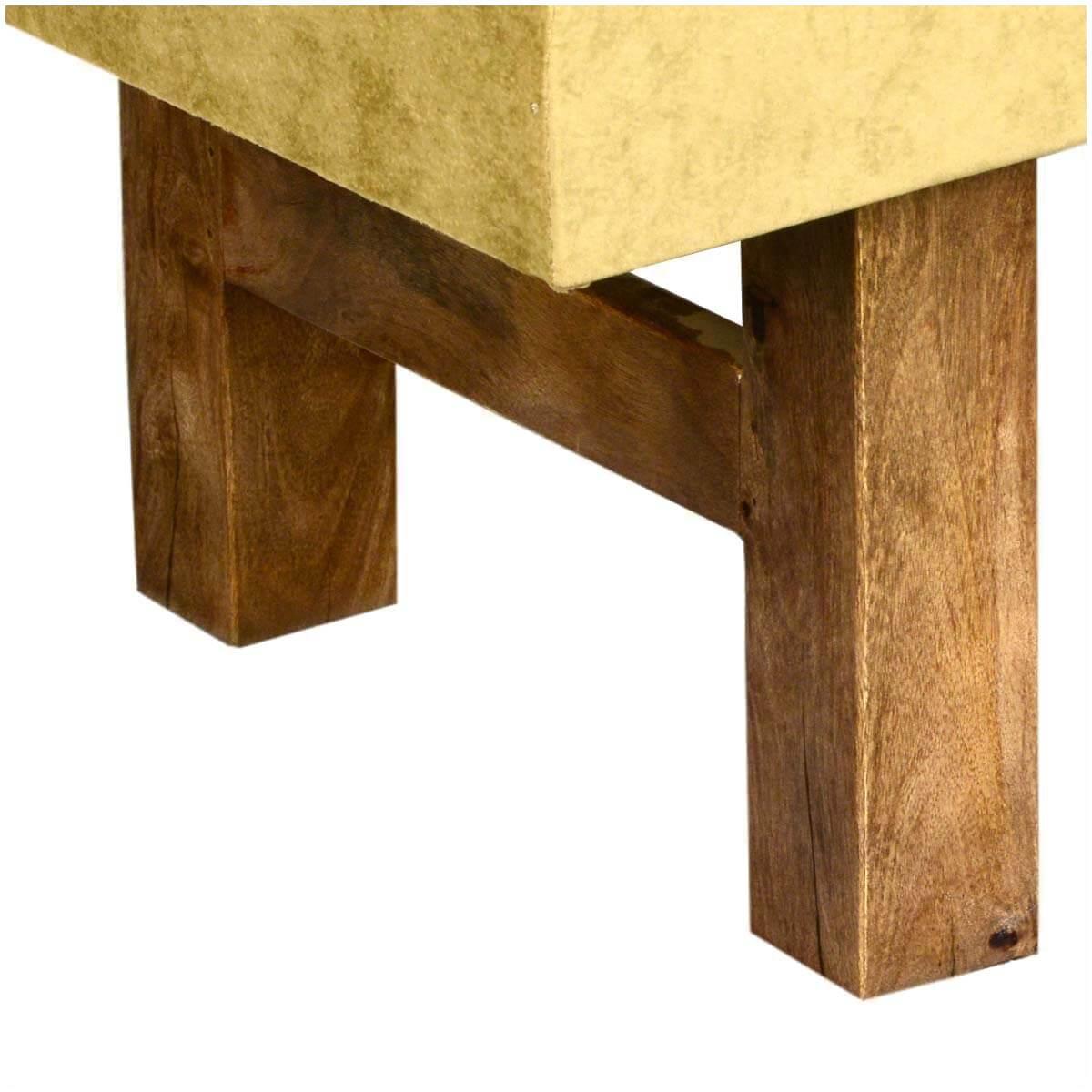 Fabric Coffee Table Wood