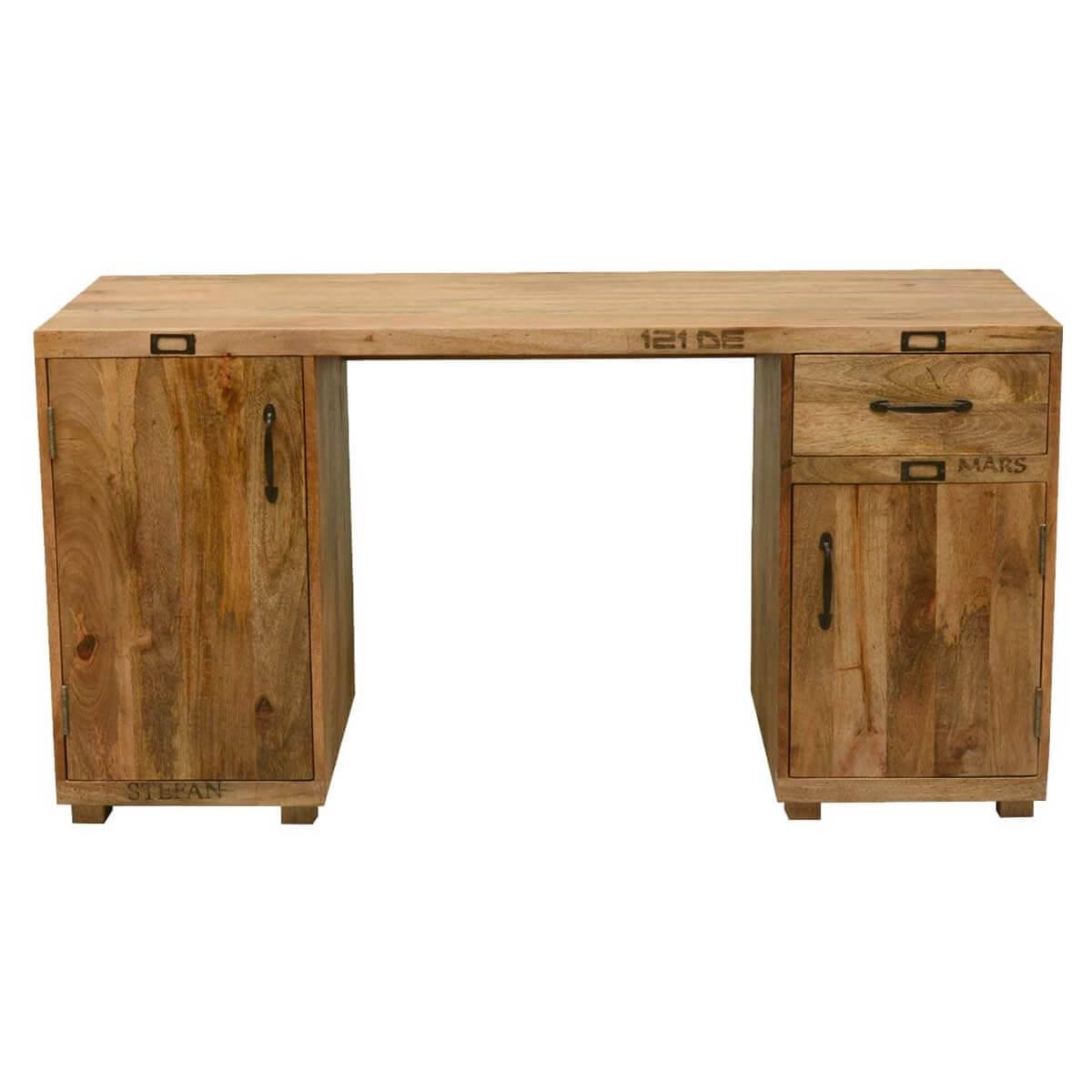 Tiny Hands Mango Wood 59 Long Pedestal Desk Work Station