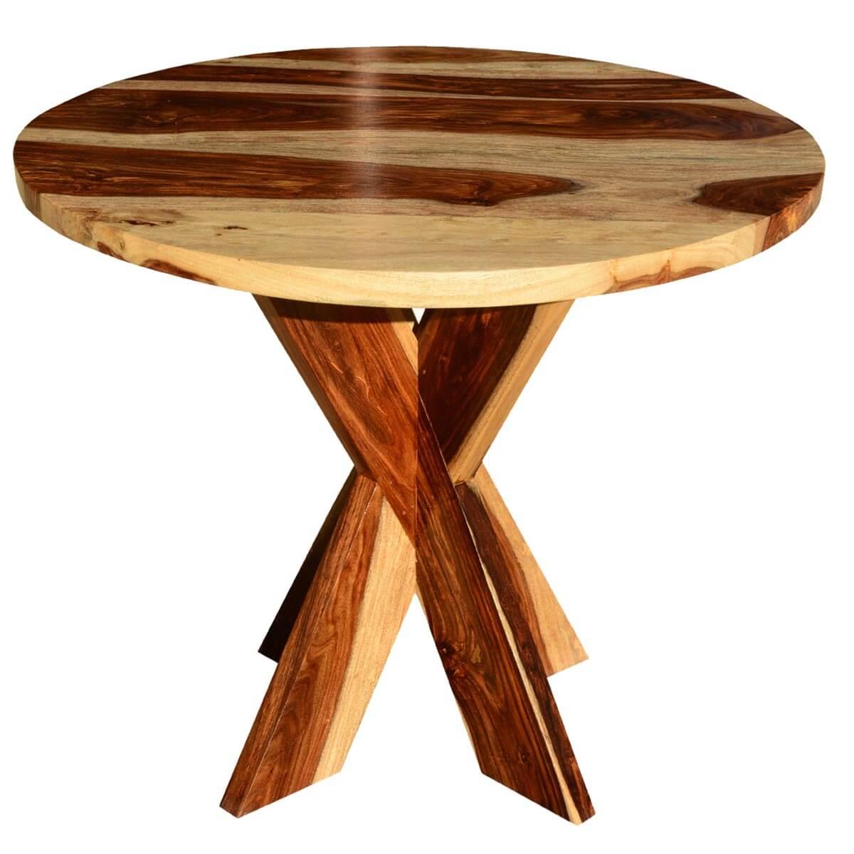 dallas solid wood x pedestal round dining table on solid wood dining table id=16443