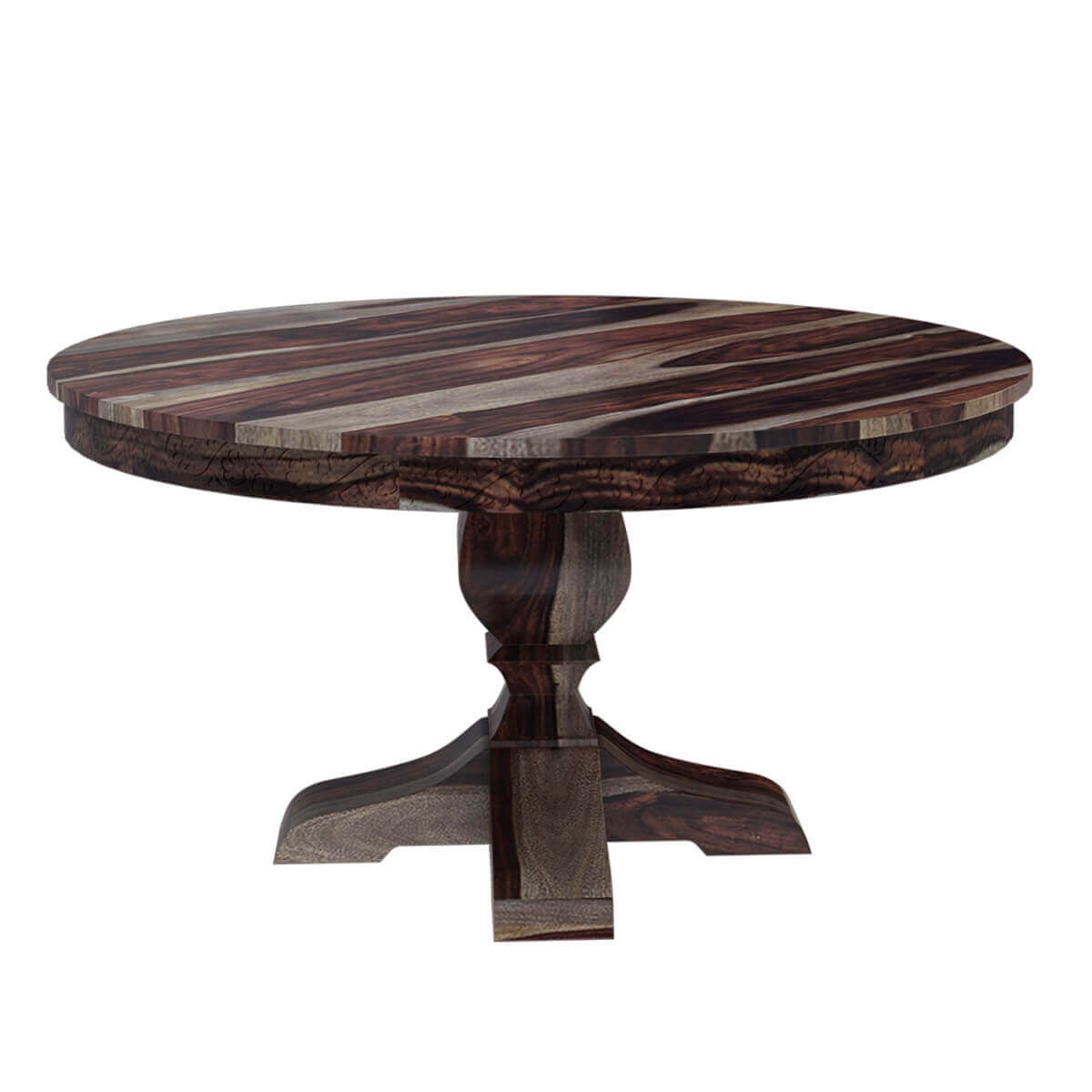 hosford handcrafted solid wood 60 round pedestal dining table on solid wood dining table id=12635