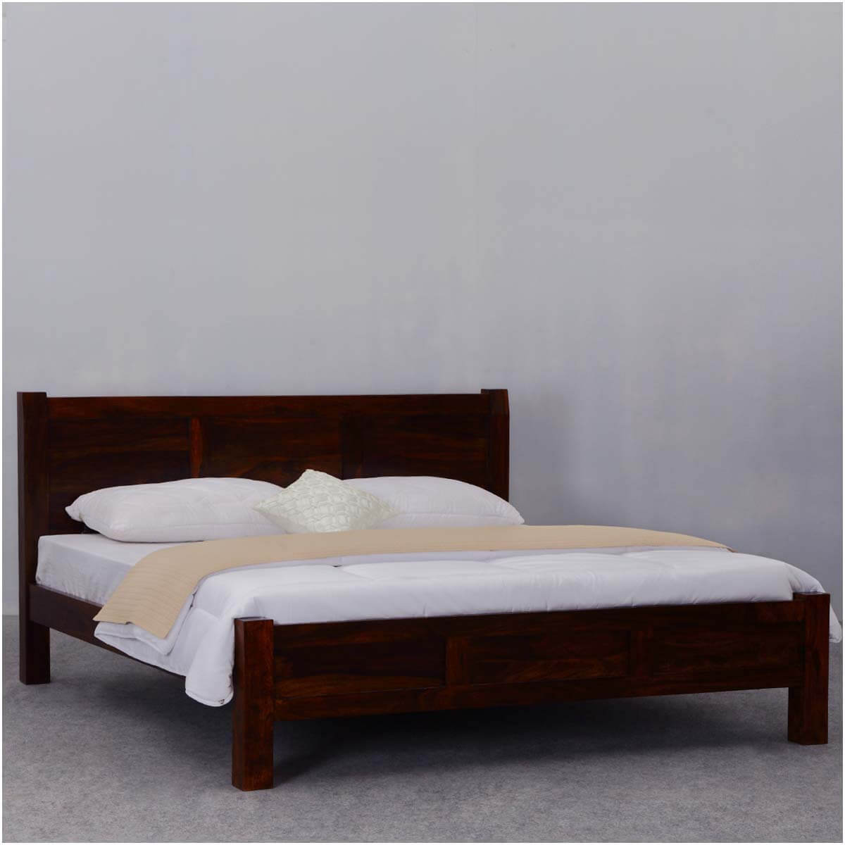 Rustic Mediterranean Modern Style California King Size Bed