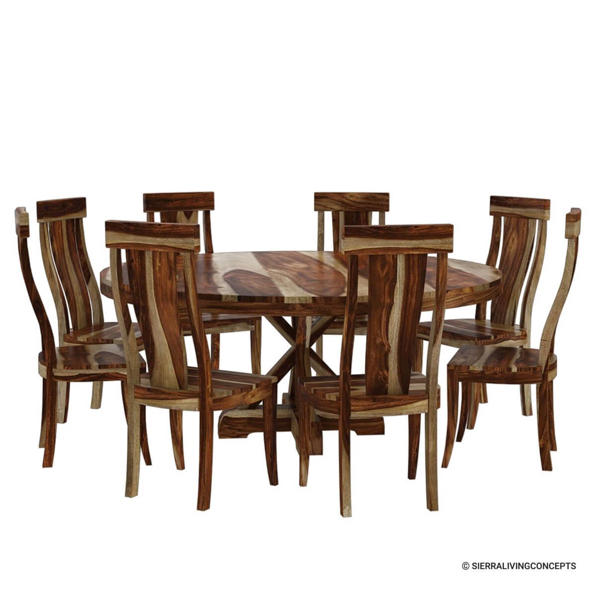 Dining Pedestal Set 5 Table Black Piece
