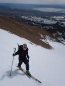 Scot Buell ascending SE bowl Dunderberg Peak, 4/11